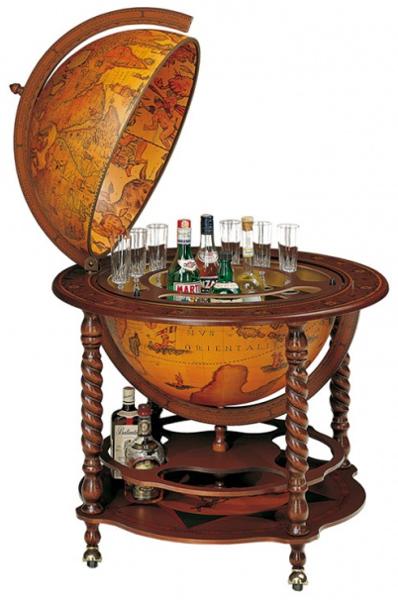 Глобус с баром внутри